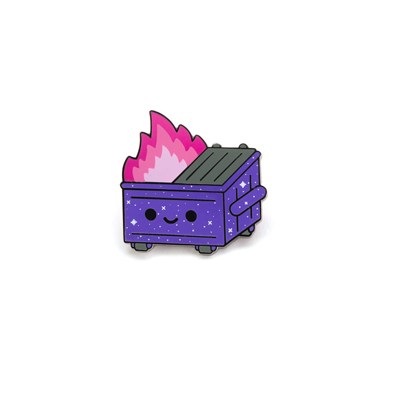 Dumpster Fire Galaxy Trash Pin