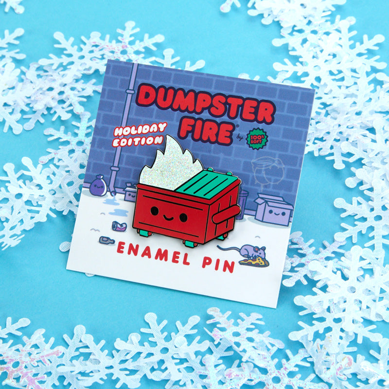Dumpster Fire Holiday Edition Pin