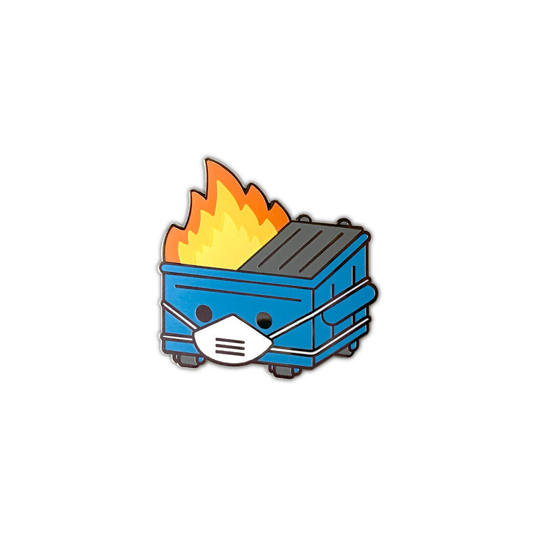 Dumpster Fire PPE Edition Enamel Pin