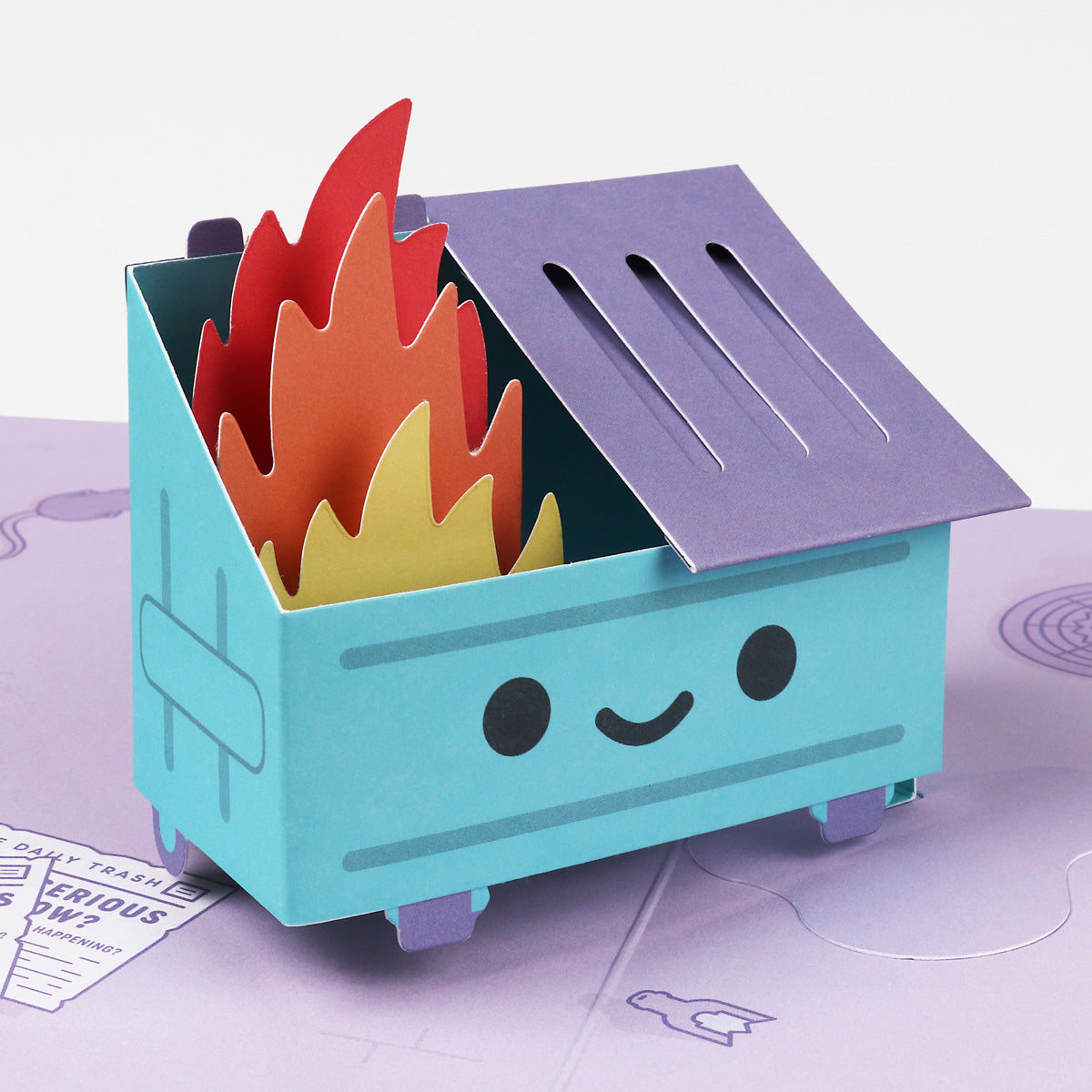 Dumpster Fire Pop-Up Card