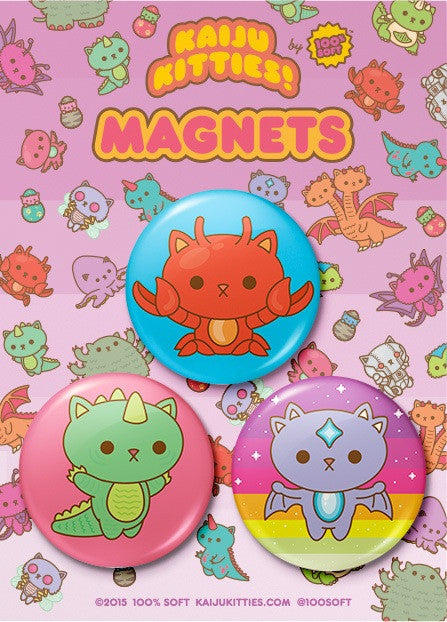 Kaiju Kitties Magnet Pack