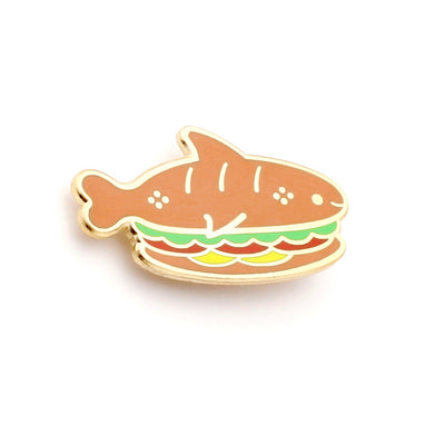 Sandwich Shark Enamel Pin
