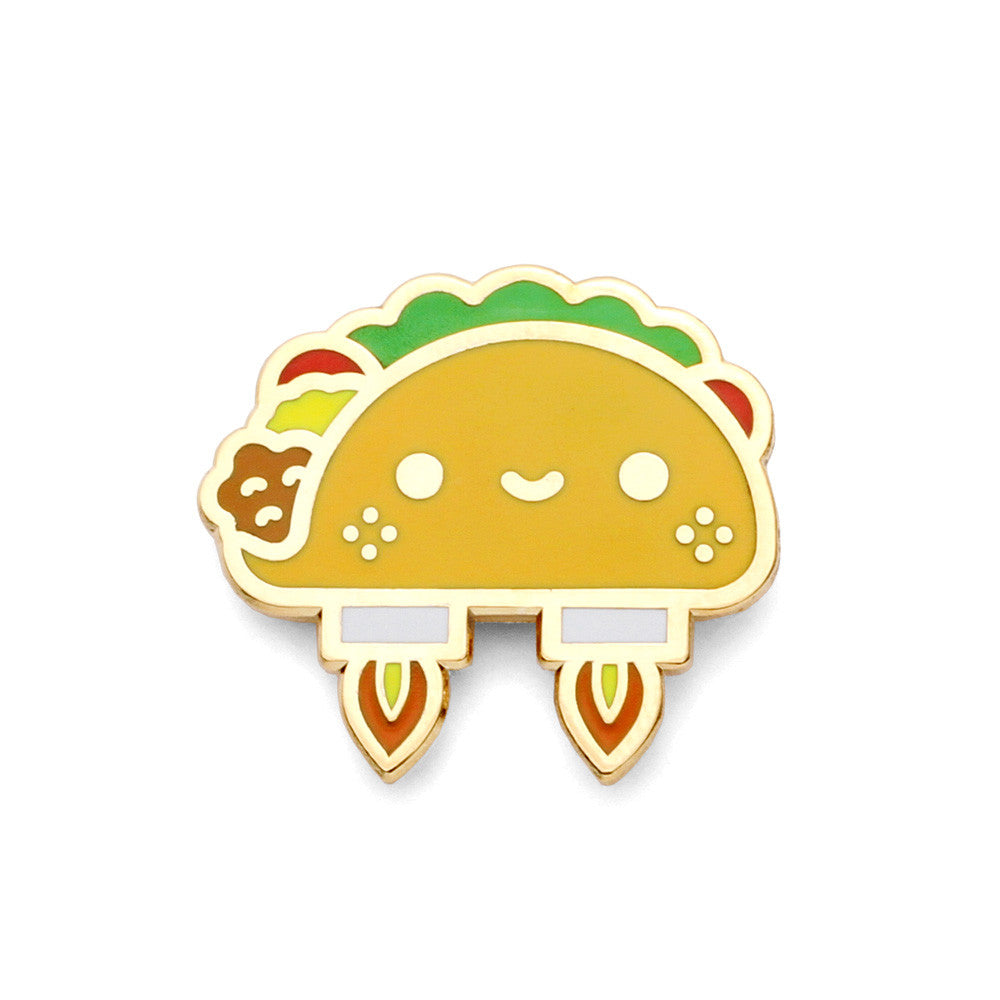 Space Taco Enamel Pin
