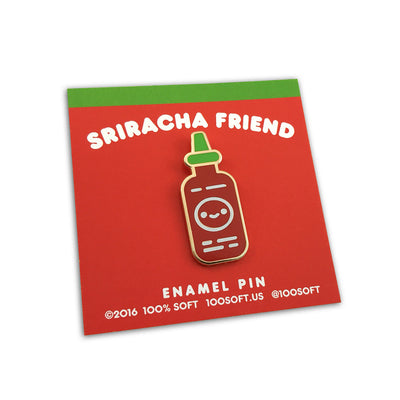 Sriracha Friend Enamel Pin