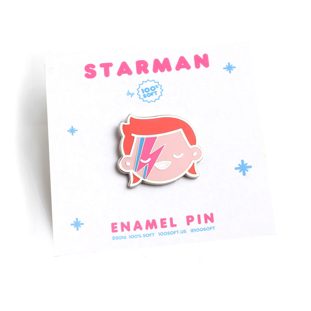 Starman Enamel Pin