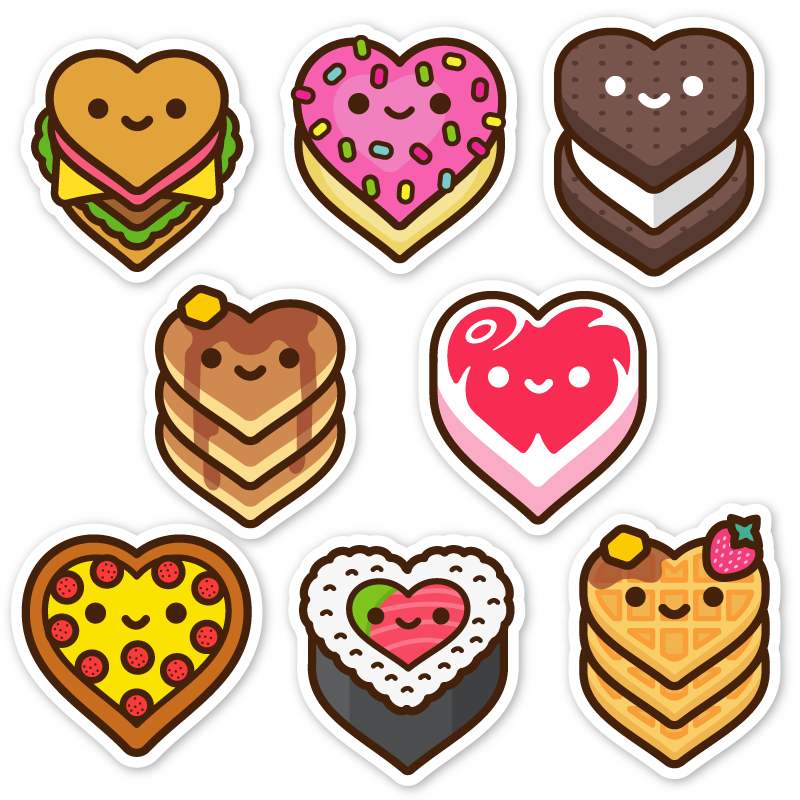 Yummy Luv Sticker Pack