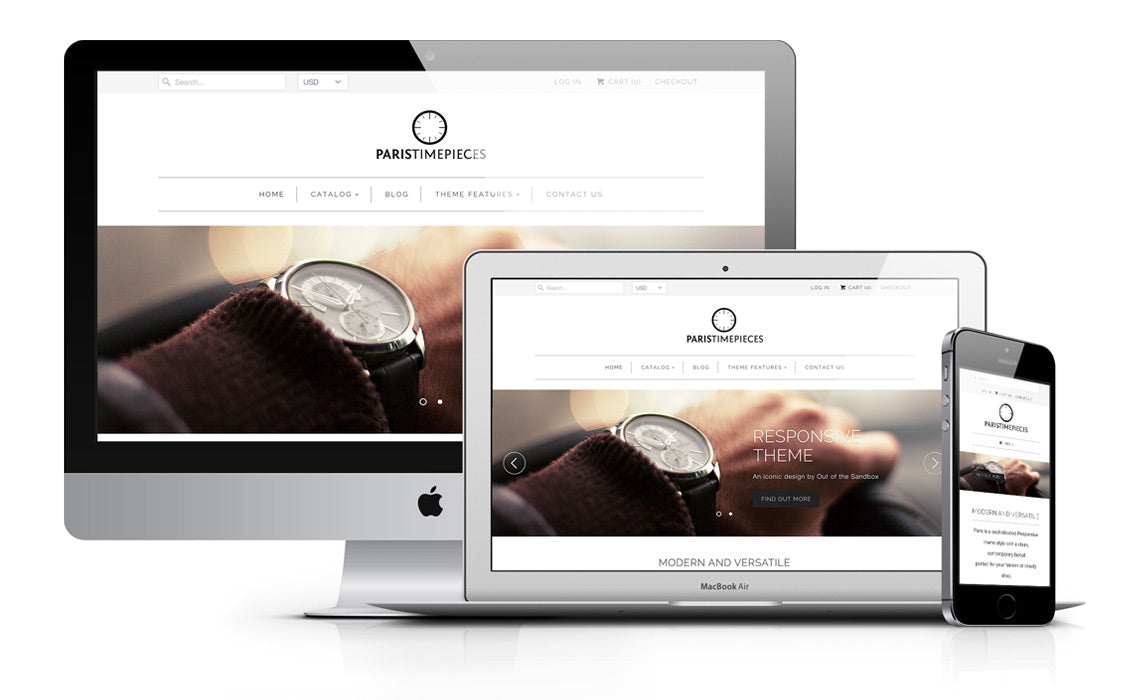 Responsive Shopify Theme - Paris