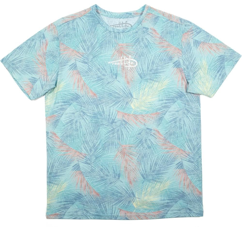 "Men's Ocean Washed Tee Short Sleeve ""Hooked On Palms"""