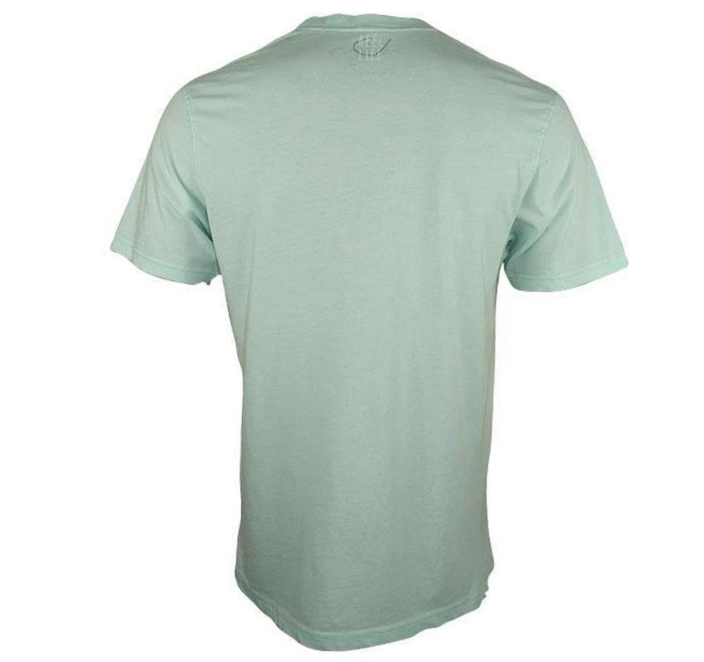 "Reel Life Men's Short Sleeve Tee  ""Reel Life Squared""- Surf Spray"