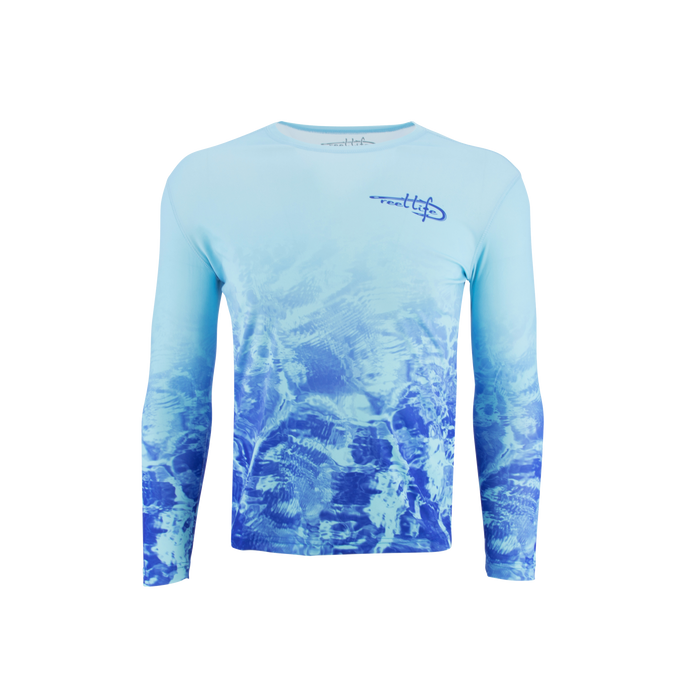 Men's Performance Blue Waters Fade Up Shirt