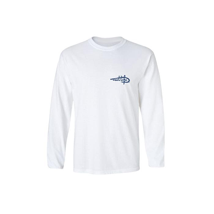 Men's Texas Circle Hook Performance Long Sleeve Fishing Shirt - White