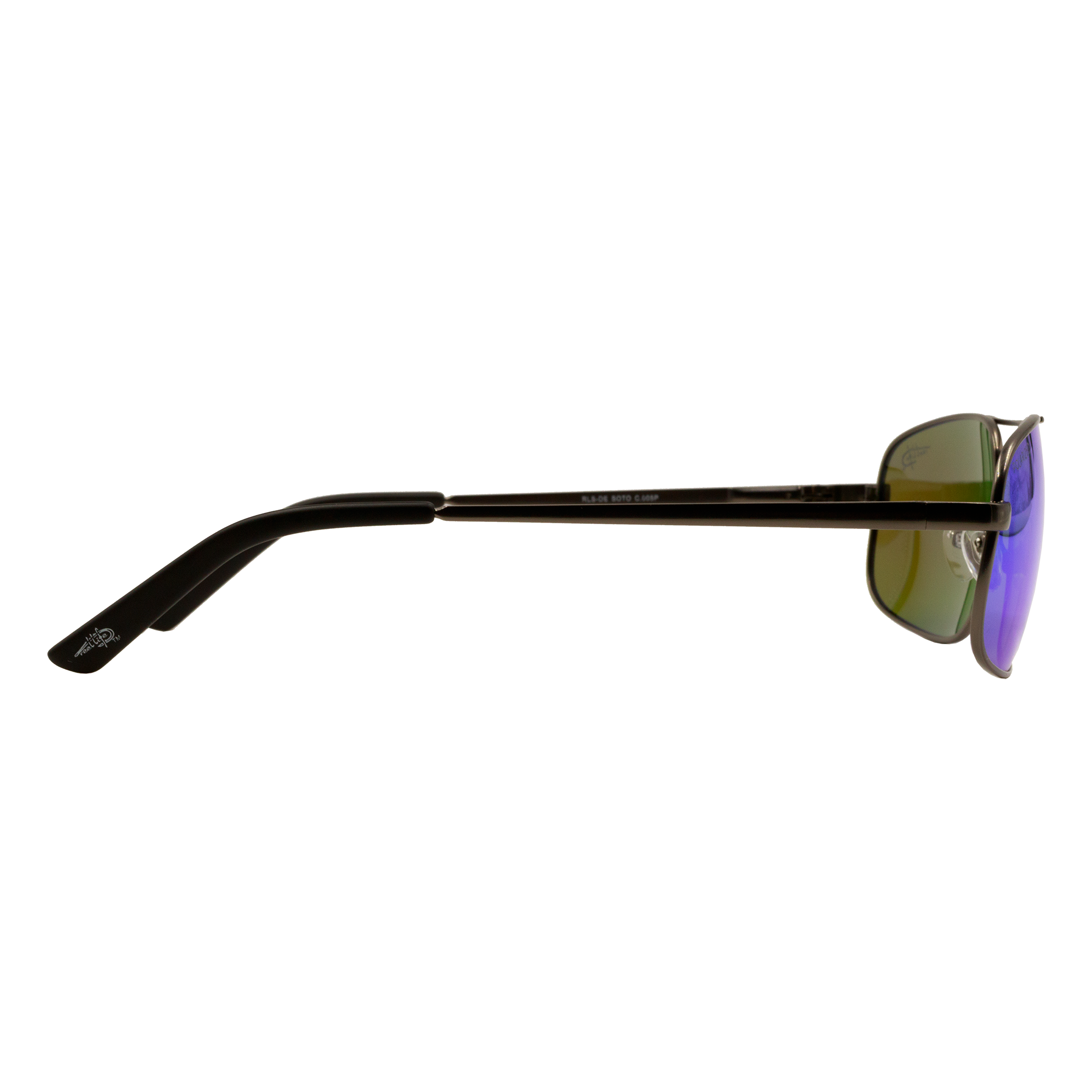 De Soto 005P -  Polarized Blue Mirror Lens Sunglasses