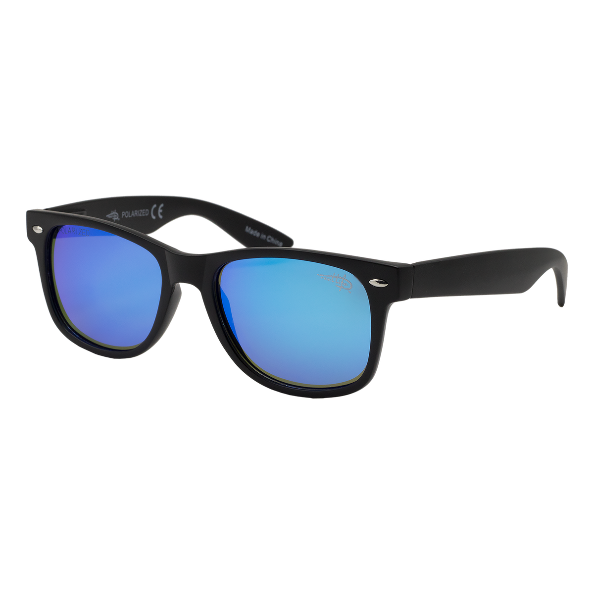 Destin 104P -  Polarized Blue Mirror Lens Sunglasses