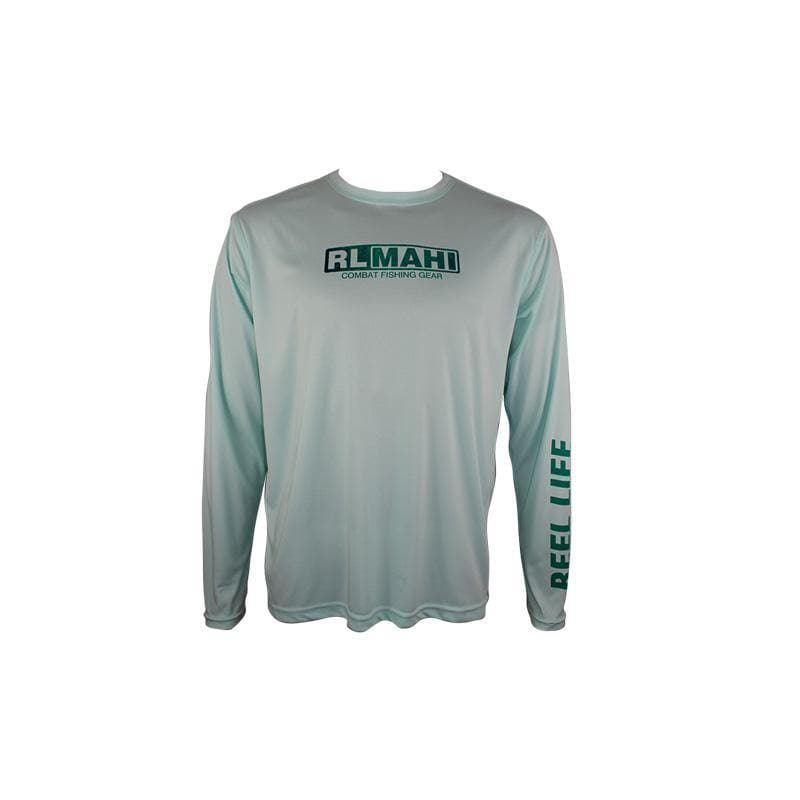 "Reel Life Men's Long Sleeve UV ""Combat Mahi"" - Seagrass Green"