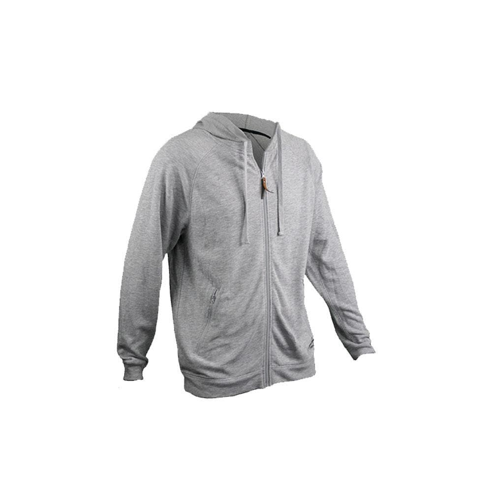 Reel Life Men's Raglan Full zip Hoody - Heather Grey
