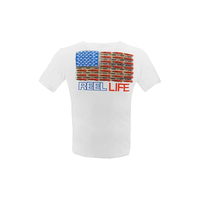Ocean Washed Merica Short Sleeve Fishing T-Shirt