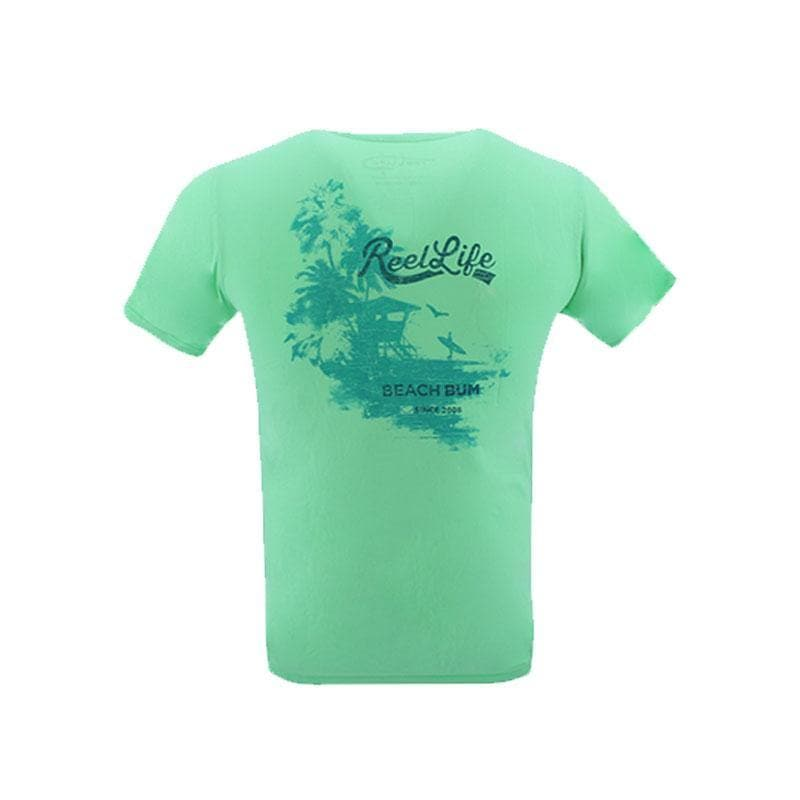 "Reel Life Men's Short Sleeve Tee ""Great Escape"" - Island Reef"