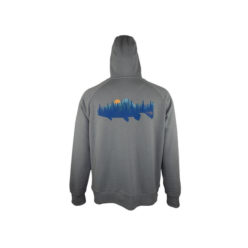 "Reel Life Men's Long Sleeve Fleece Hoodie ""Fish Forest"""