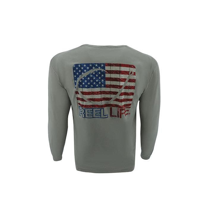 Men's Long Sleeve Pigment Dyed Tee - Freedom Circle Hook