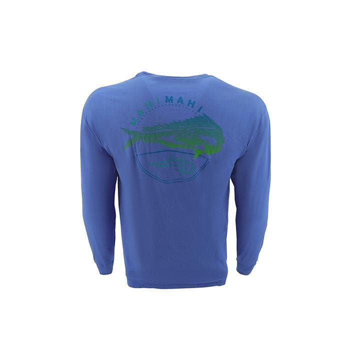 "Reel Life Men's Long Sleeve Pocket Tee ""Southern Mahi"" - Wave - Reel Life"