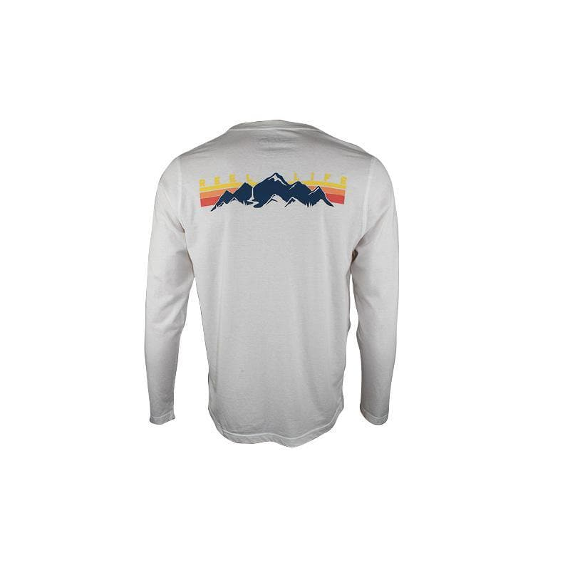 "Reel Life Men's Long Sleeve Tee ""Waterfall Stripes"""