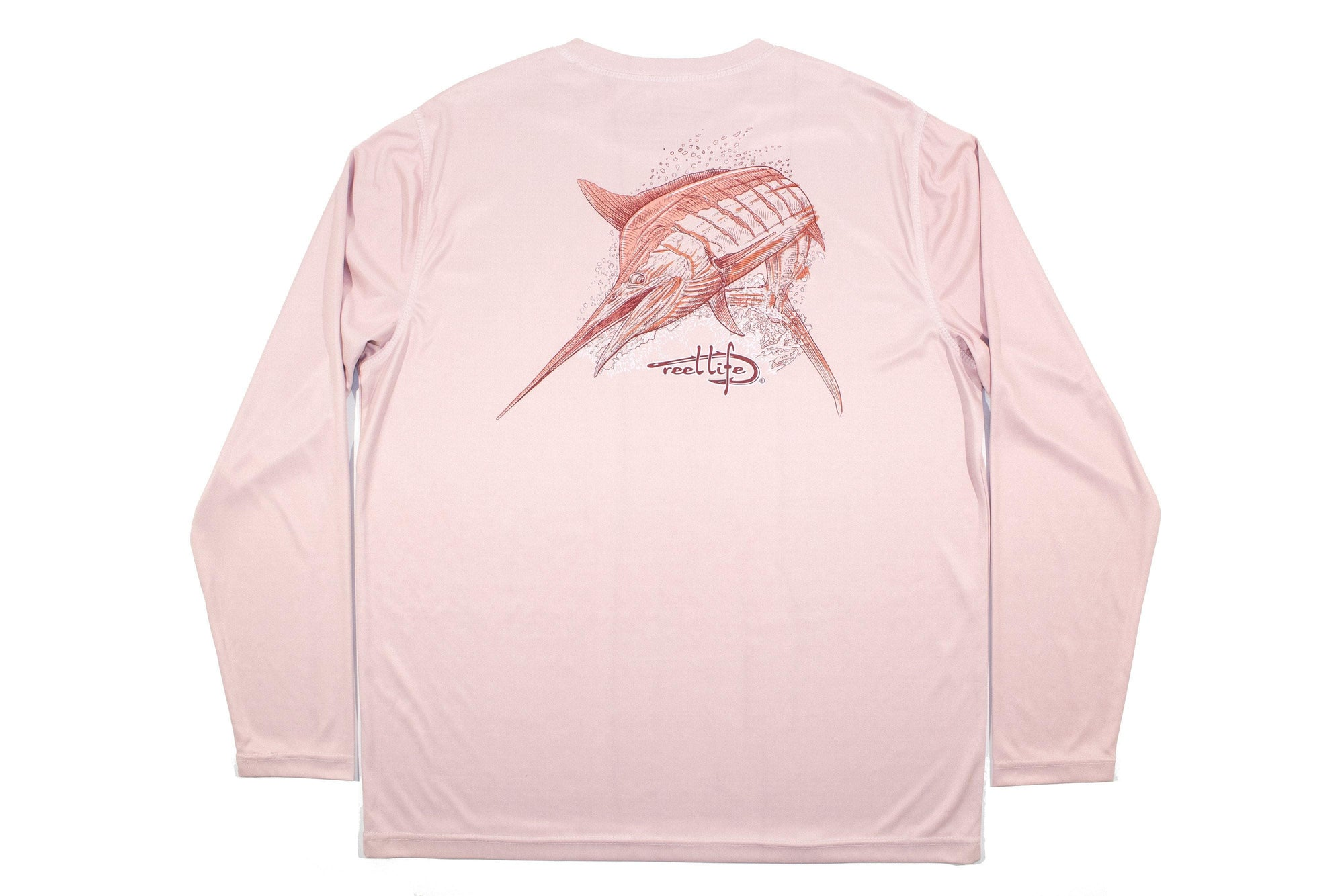 "Men's Long Sleeve UV ""Fighting Marlin"" - Reel Life"