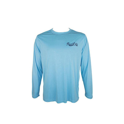 "Reel Life Men's Long Sleeve UV ""Go with Flow River"""