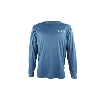 "Reel Life Men's Long Sleeve UV ""Great Escape""- Real Teal"