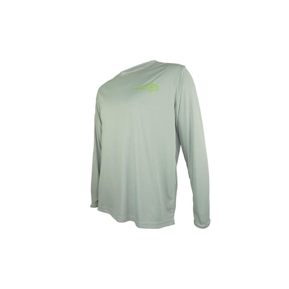 "Reel Life Men's Long Sleeve UV ""Mahi Photo Reel""- High Rise Grey"