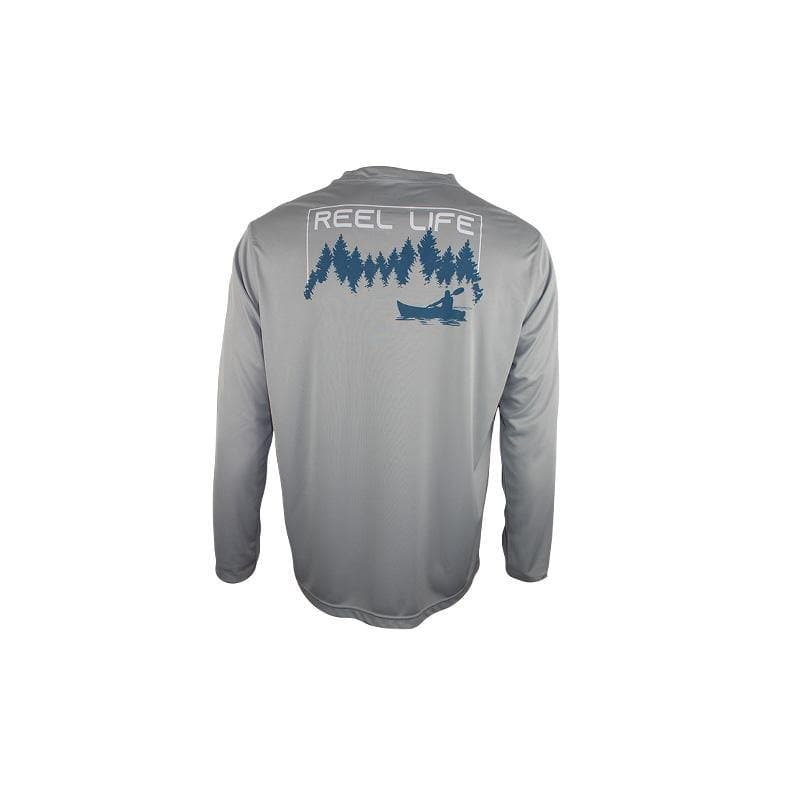 "Reel Life Men's Long Sleeve UV ""Peaceful Kayaking"""
