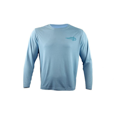 "Men's Long Sleeve UV ""Palm & Boat"""