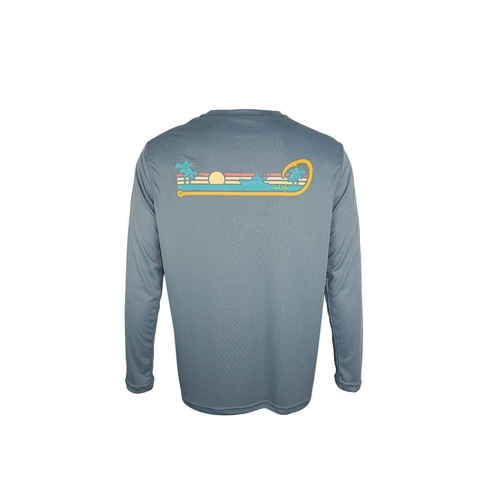 "Reel Life Men's Long Sleeve UV ""Simply the Reel Life Ocean"" - Reel Life"