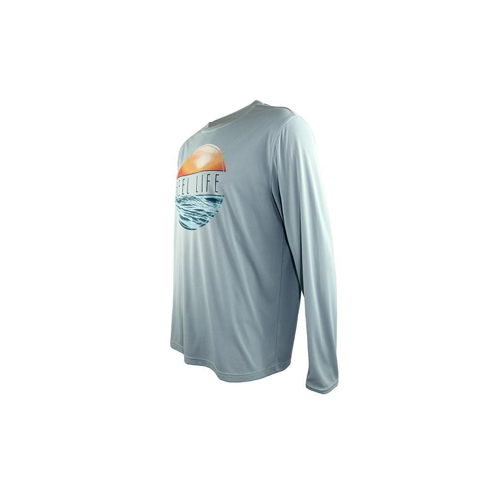 "Reel Life Men's Long Sleeve UV ""Sunset Circle"" - Surf Spray - Reel Life"