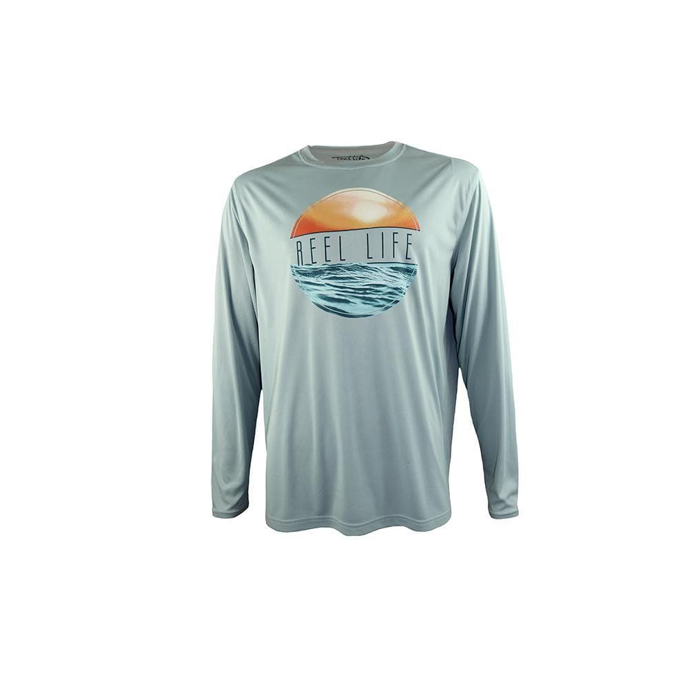 "Reel Life Men's Long Sleeve UV ""Sunset Circle"" - Surf Spray"