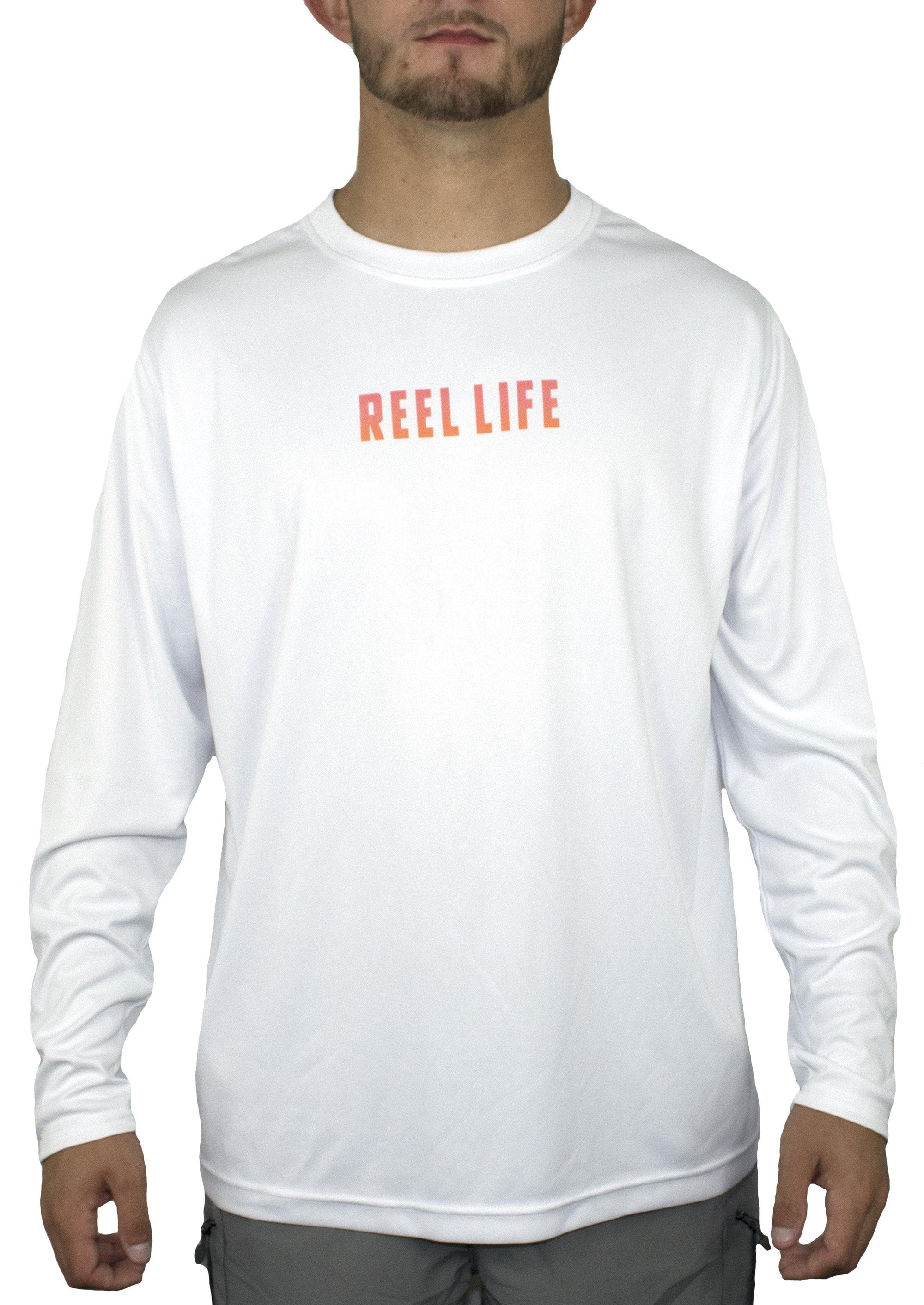 "Men's Long Sleeve UV ""Sunset Rods"" - Reel Life"