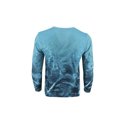 "Reel Life Men's Long Sleeve UV ""Blue Water Print"""