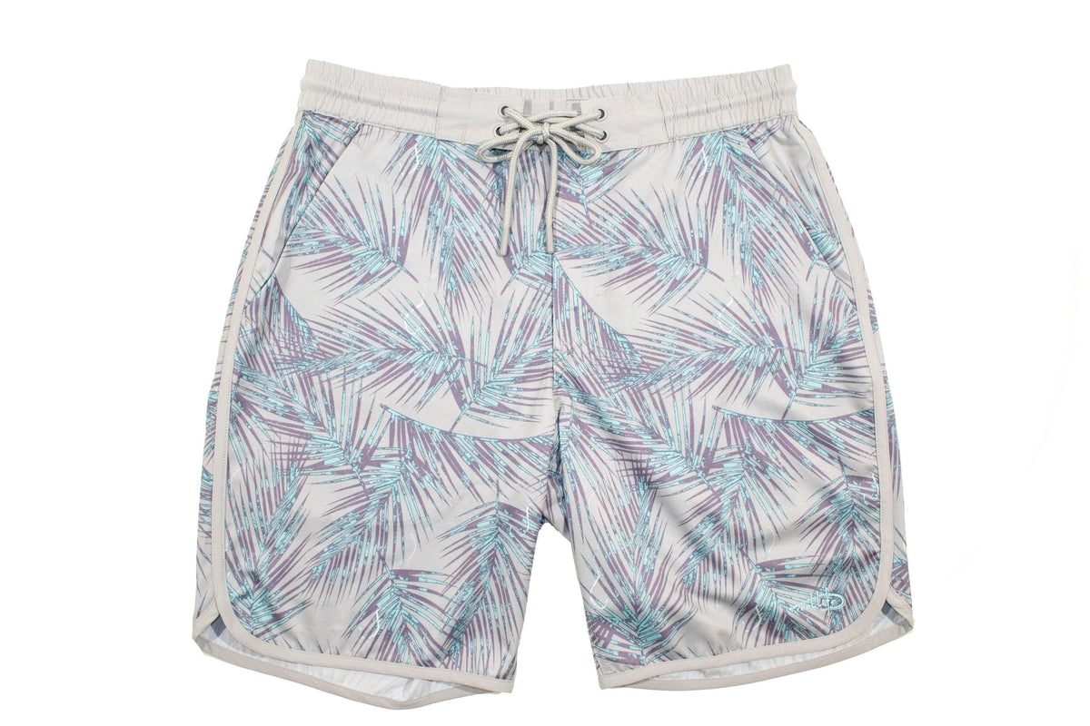 "Men's Boardwalk Short ""Palm Print"" - Reel Life"