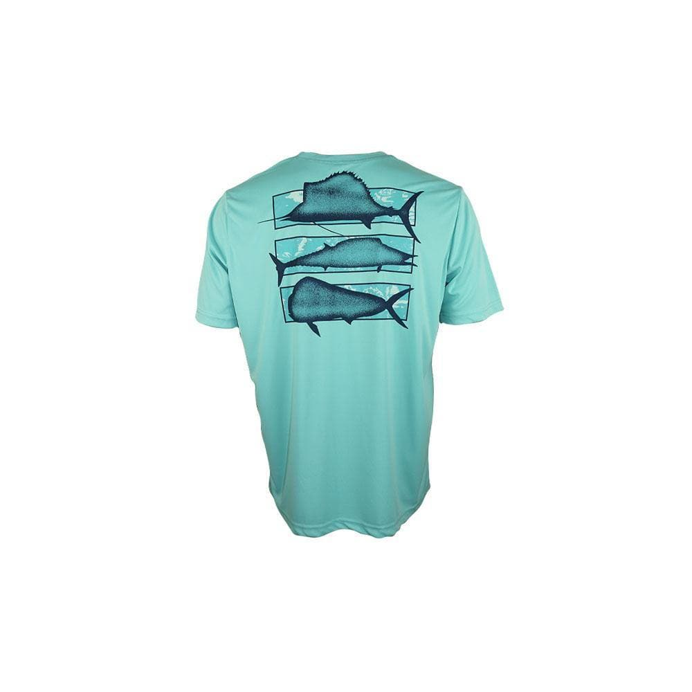 "Reel Life Men's Short Sleeve Tee ""Grand Slam"" - Angel Blue"