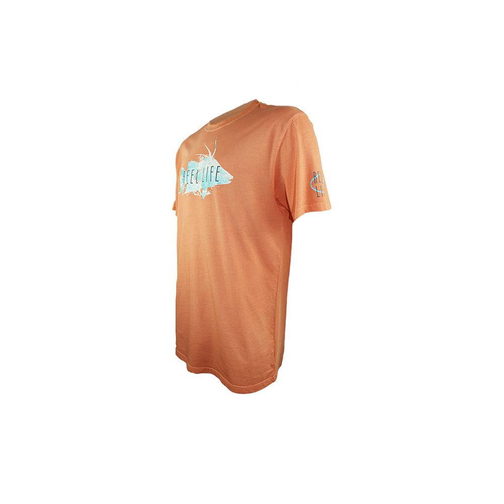 "Reel Life Men's Short Sleeve Tee ""Watered Hogfish"" - Cantaloupe"