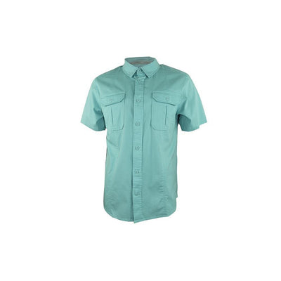 Reel Life Men's Beach Comber Short Sleeve Reef Diver Woven Shirt