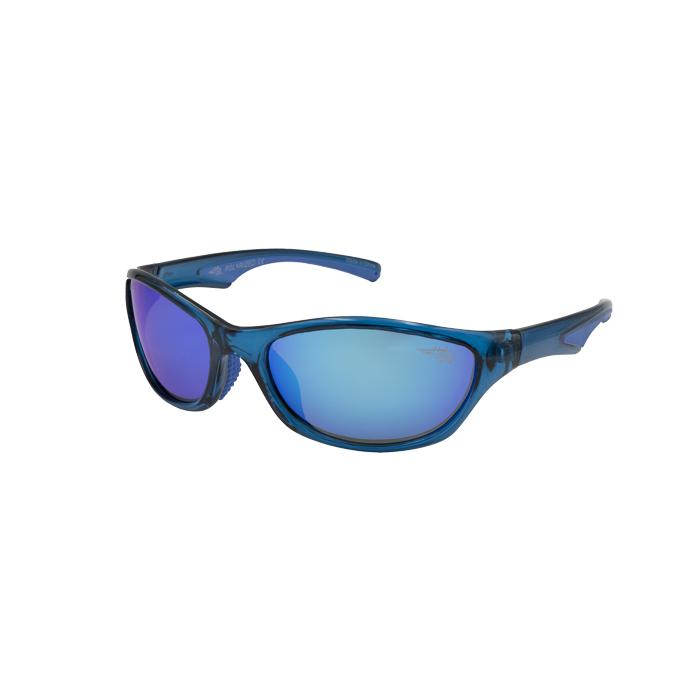 Wabassa 105P - Polarized Blue Mirror Lens Sunglasses
