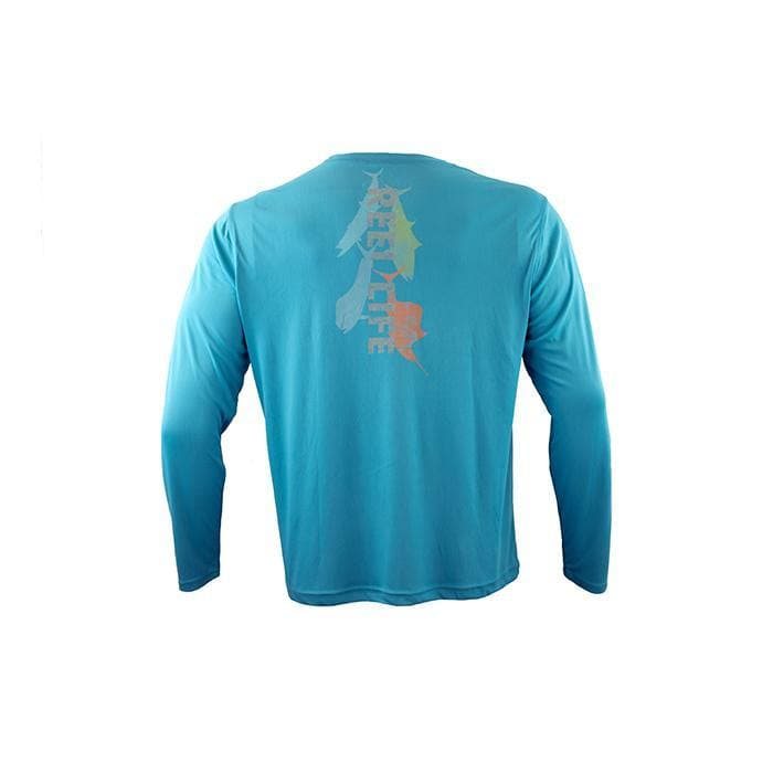 "Men's Long Sleeve ""Watercolor Pelagic"""