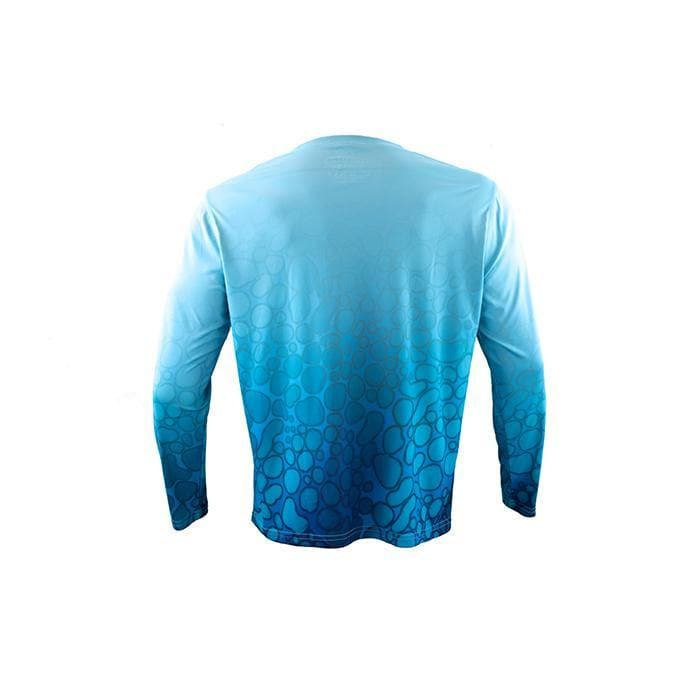 "Men's Long Sleeve Sun Defender ""Amphibian Blue"""