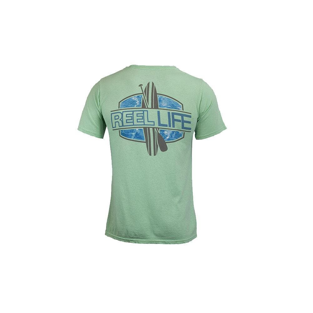 "Reel Life Men's Short Sleeve ""Paddle board"" - Island Reef - Reel Life"