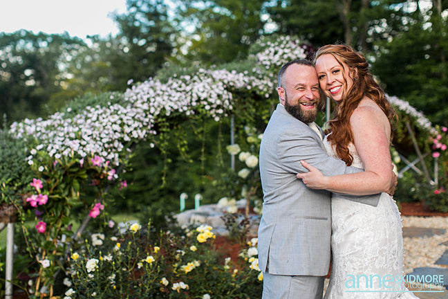 Garden Rose Wedding shines in New Hampshire
