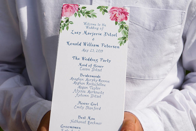 Wedding Day Stationery-Ceremony Programs