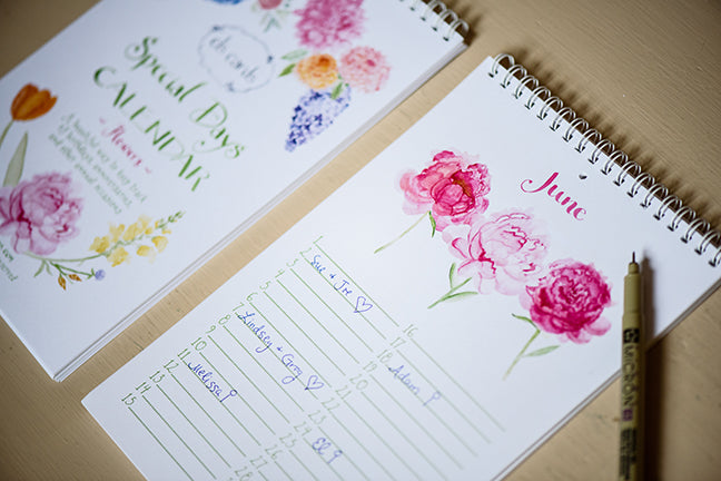 Pretty & Practical-Floral Special Days Calendar