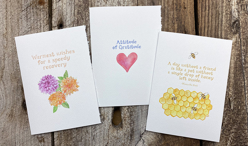 cards with Amanda font