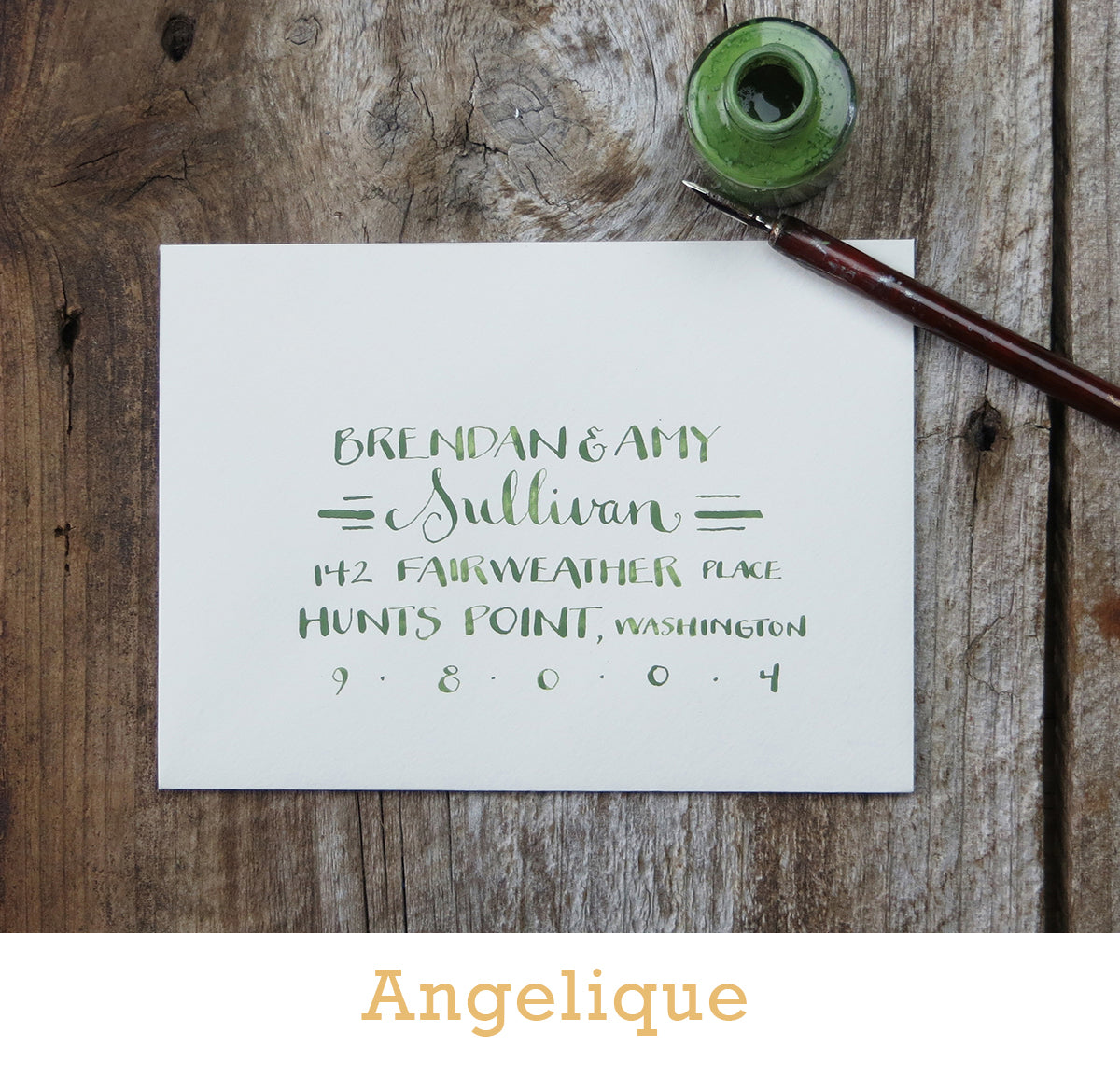 Angelique calligraphy El's Cards