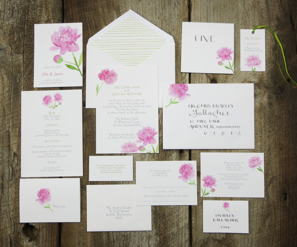 Wedding Etiquette Series Part 2: What pieces should be included ...